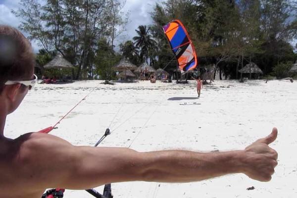 Kite surfing i afrika